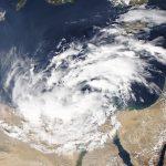 Una tormenta inusual sobre el mar Mediterráneo