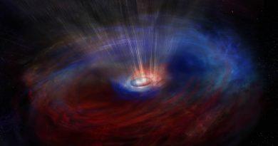 ALMA observa inesperados flujos opuestos alrededor de un agujero negro supermasivo