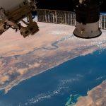Imagen del mar Rojo y el río Nilo tomada desde la ISS