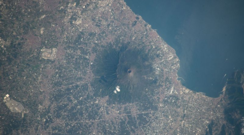 El monte Etna fotografiado desde la Estación Espacial Internacional
