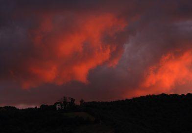 Imagen del atardecer tomada desde Arenys de Munt, Barcelona