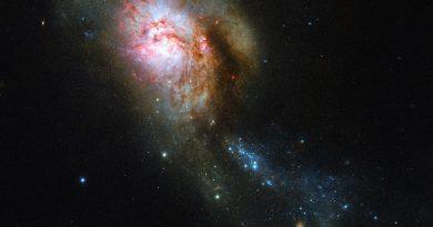 El Hubble obtiene imágenes de una medusa cósmica en la constelación de la Osa Mayor