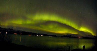 Auroras boreales fotografiadas desde Troms, Noruega