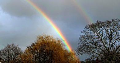 Arcoíris doble fotografiado desde Londres, Inglaterra