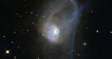 El lento baile de un par de galaxias en proceso de fusión