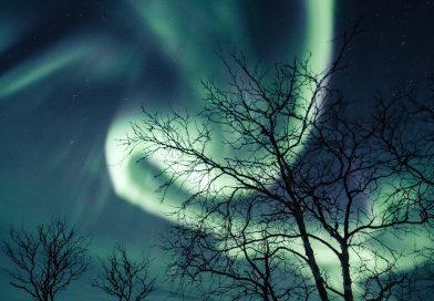 Auroras boreales fotografiadas desde Kilpisjärvi, Finlandia