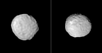 El VLT obtiene imágenes del asteroide Palas, un mundo con forma de bola de golf