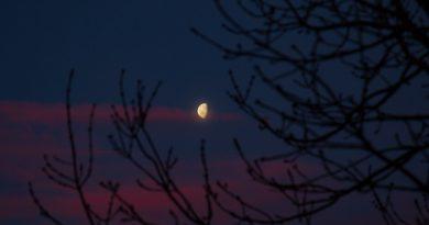 Fotografía de la Luna captada al amanecer en Inglaterra