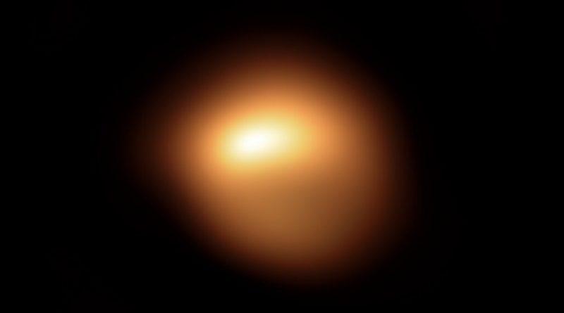 Astrónomos obtienen imágenes que muestran la disminución del brillo de Betelgeuse
