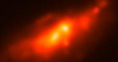 Astrónomos explican el extraño doble núcleo de la galaxia NGC 4490