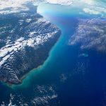 La península de Yucatán fotografiada desde la ISS