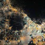 Nápoles y el monte Vesubio captados desde la Estación Espacial Internacional