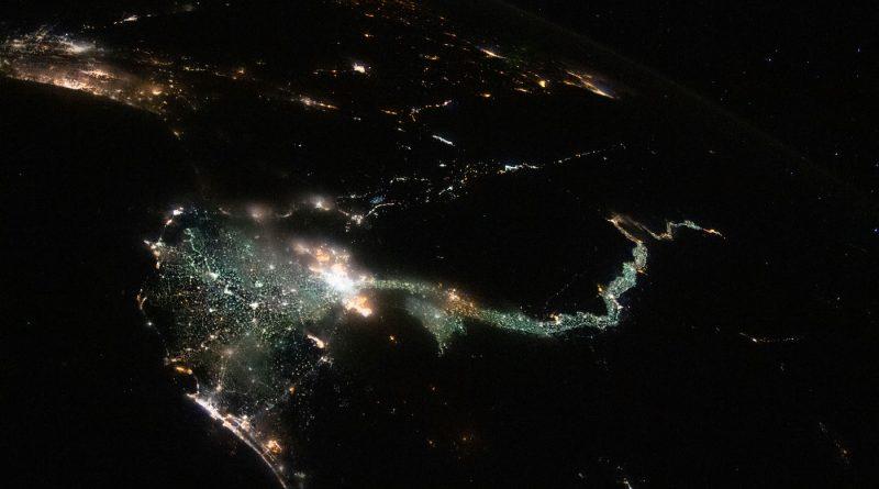 El Cairo y el río Nilo fotografiados desde la Estación Espacial Internacional