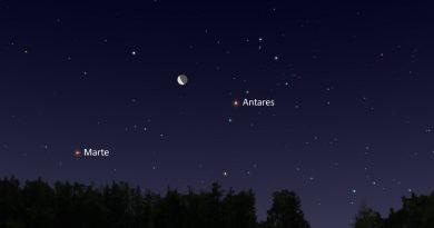 La conjunción de la Luna y la estrella Antares será visible la madrugada del 17 de febrero