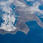Imagen del sur de Italia tomada desde la Estación Espacial Internacional