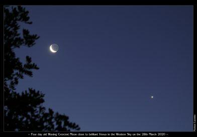 La Luna y Venus fotografiados desde Queensland, Australia