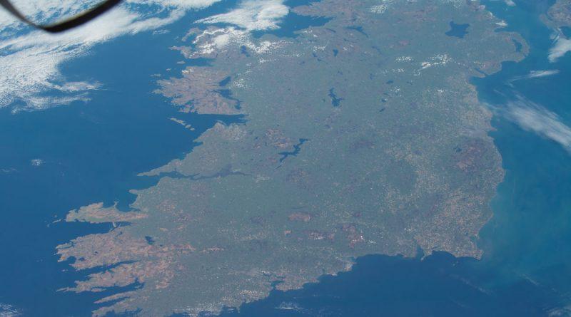 Imagen de la isla de Irlanda tomada desde la Estación Espacial Internacional