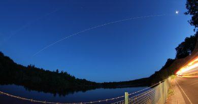 El paso de la ISS captado desde North Wiltshire, Inglaterra