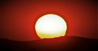 La puesta de Sol captada desde Poway, California