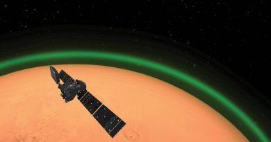 Detectan un resplandor verde en la atmósfera de Marte