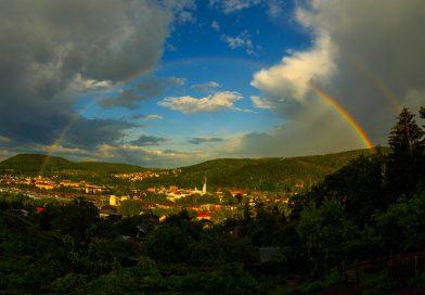 Arcoíris fotografiado desde Sajonia, Alemania
