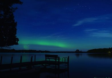Auroras boreales captadas desde Minnesota, Estados Unidos