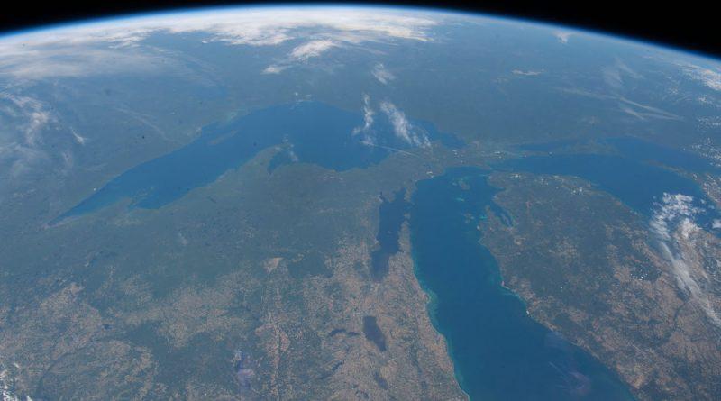 Imagen de los Grandes Lagos tomada desde la ISS