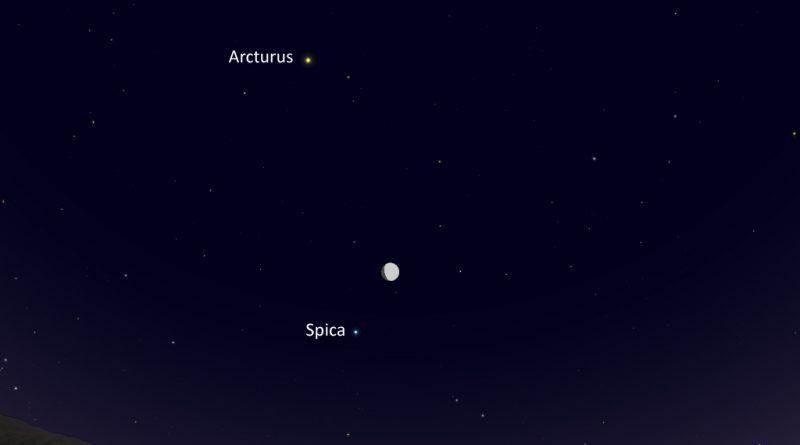 La conjunción de la Luna y la estrella Spica será visible esta noche