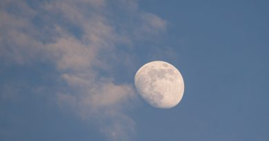 Fotografías de la Luna gibosa creciente tomadas desde Zaragoza, España
