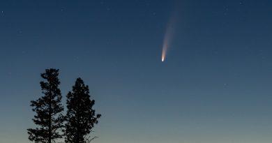 Imagen del Cometa C/2020 F3 (NEOWISE) tomada desde Oregón, Estados Unidos