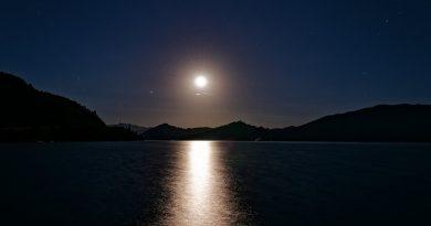 Foto de la Luna tomada desde Idaho, Estados Unidos