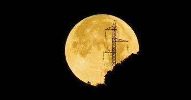 Fotos de la Luna tomadas desde Arenys de Munt, Barcelona