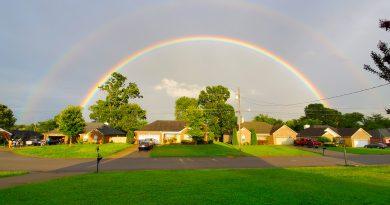 Arcoíris doble fotografiado desde Tennessee, Estados Unidos
