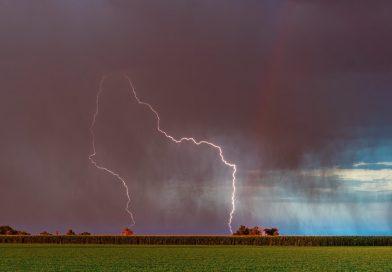 Tormenta eléctrica fotografiada desde Vineland, Colorado