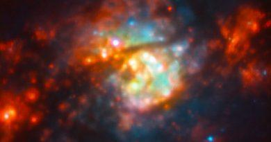 El caos provocado por estrellas recién nacidas en una guardería estelar en la galaxia NGC 5236