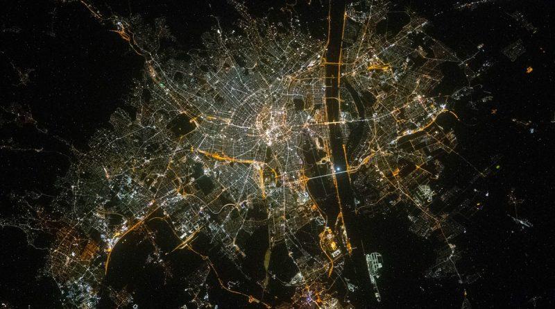 La ciudad de Viena fotografiada desde la Estación Espacial Internacional