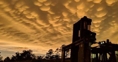 Nubes mammatus captadas desde Arkansas, Estados Unidos