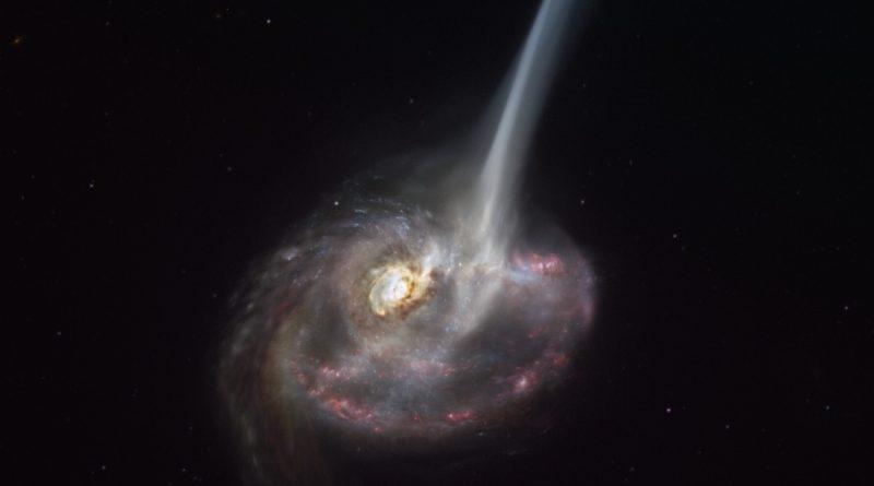 El Observatorio ALMA capta la lenta muerte de una galaxia distante