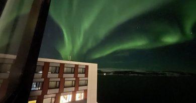 Auroras boreales fotografiadas desde Kirkenes, Noruega
