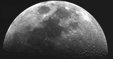 Fotografía de la Luna tomada desde Ōtawara, Japón