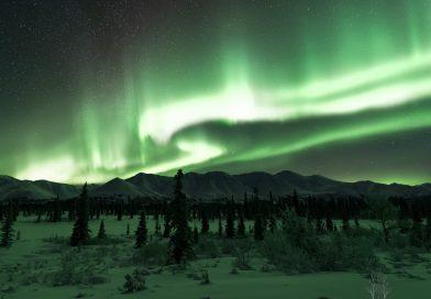 Auroras boreales fotografiadas desde Cantwell, Alaska