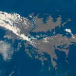 Las islas Malvinas fotografiadas desde la ISS