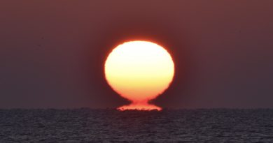 La salida del Sol captada desde Delaware, Estados Unidos