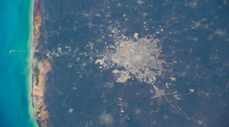 La ciudad de Mérida, Yucatán, fotografiada desde la ISS