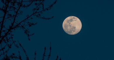 Foto de la Luna tomada desde Paterson, Nueva Jersey