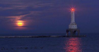 Foto de la Luna tomada desde Port Washington, Wisconsin
