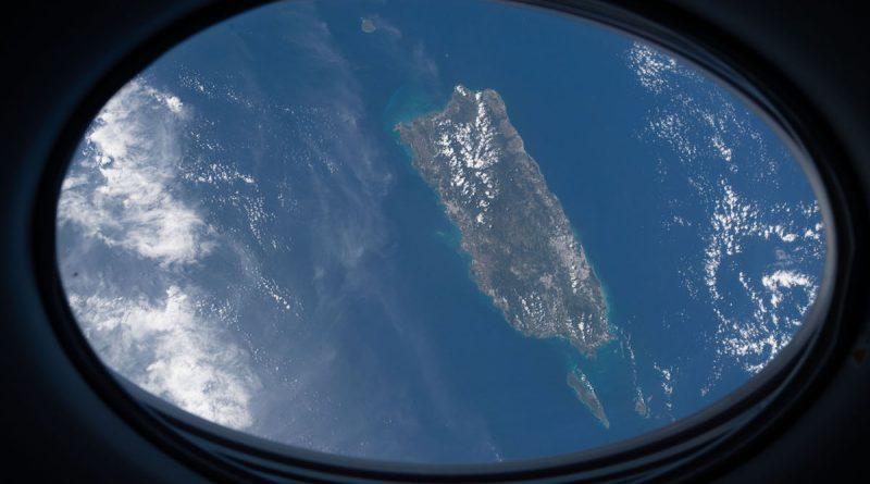 La isla de Puerto Rico fotografiada desde la ISS