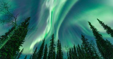 Auroras boreales fotografiadas desde el Yukón, Canadá