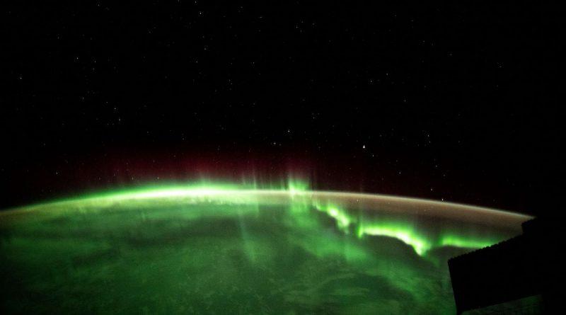 Auroras australes captadas desde la Estación Espacial Internacional