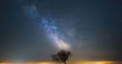 Imagen de la Vía Láctea tomada desde Somerset, Inglaterra